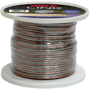 New Pyle Psc16250 16 Gauge 250 Ft Spool Of High Quality Speaker Zip Wire