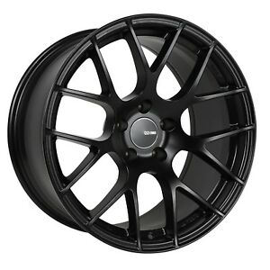 1 Enkei Raijin Wheel Rim 19x8 5x114 3 40mm Black Paint