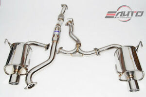 Invidia Q300 110mm Dual Stainless Tip Catback Exhaust For Forester Xt 14 18 sj