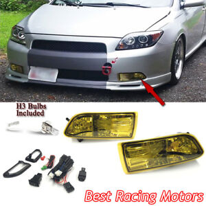 Jdm Style Fog Light Kit yellow Lens Fits 05 10 Scion Tc