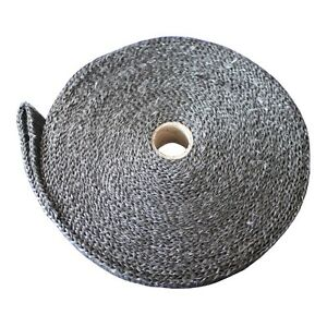 Black Universal Exhaust Header Heat Wrap With Stainless Ties For Car Truck Boat