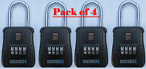 Pack Of 4 Lockbox Key Lock Box For Realtor Real Estate 4 Digit