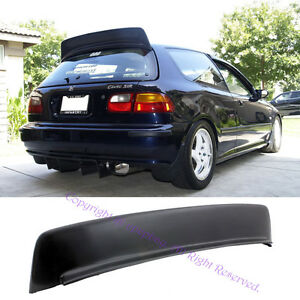 Fits 92 95 Civic 3drs Hatchback Eg6 Jdm Abs Bys Style Rear Roof Spoiler Wing