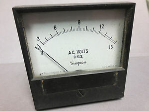 Simpson 17727 Analog Panel Meter 2153md In Box 0 15 Acv 3 5 Ul Cent