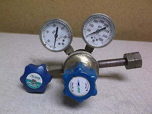 Linde Gas Regulator Upe 3 150 350 W 2 Pressure Gauges free Shipping