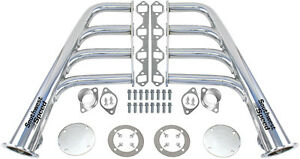 New Lake Style Ceramic Hot Coated Headers Sbf 260 351w V 8 Gt40p Rat Rod 1 5 8