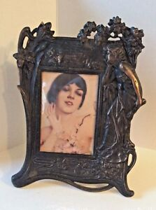 Picture Frame Art Nouveau Cast Iron Early 20th Cntry Victorian Large Vintage