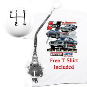 Hurst 3916790 C Classic Comp Plus 4 Speed Shifter Mopar B Body W Free T Shirt