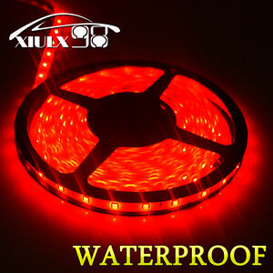 Waterproof 5m 3528 Smd 300leds Red Diy Flexible Soft Led Light Strip Lamp 12v Us