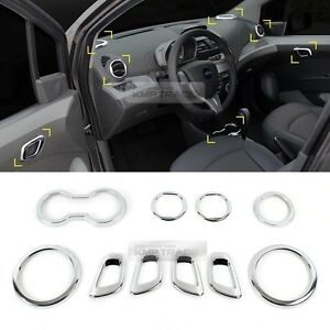 Chrome Silver Interior Set Molding Garnish Trim For Chevrolet 2013 2015 Spark