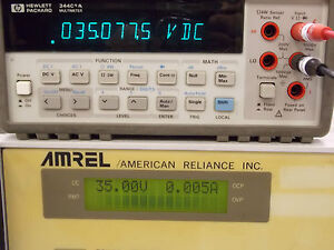 Amrel American Reliance Inc Programmable Dc Power Supply Model Mps 35 10