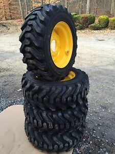 4 Hd 10 16 5 Trac Chief Xt Skid Steer Tires wheels rims For New Holland 6 Lug
