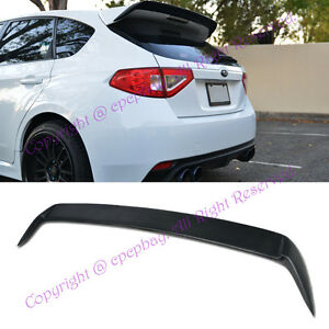 Fit 08 14 Impreza Wrx Sti 5drs Wagon Frp Rear Spoiler Add On Wing Body Kit