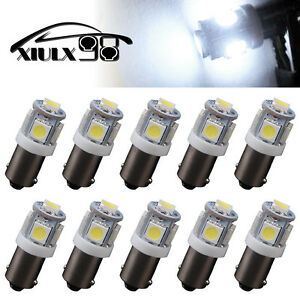 10 Pcs Pure White T11 Ba9s 5smd 5050 Led High Power Led Light Bulb Car Dc 12v