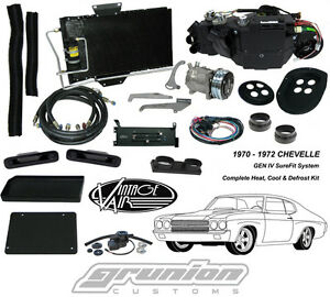1970 1972 Chevelle W Ac Heat Air Conditioning Defrost Kit 965071 Vintage Air