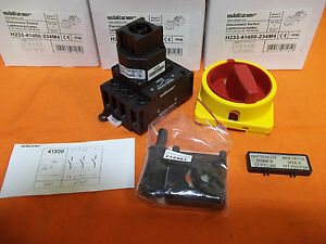 2 New Salzer Main Disconnect Switches H233 41400 234m4