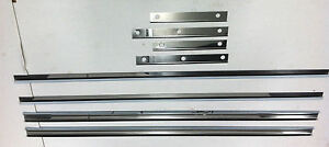 Ford Model A Running Board Stainless Steel Trim Set 8 Piece 30 1930