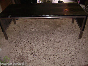 Large Faux Black Crocodile Alligator Skin Top Retail Display Table 82x34x29