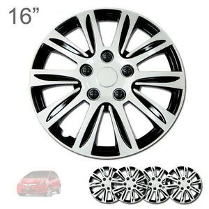 For Honda New 16 Abs Silver Rim Lug Steel Wheel Hubcaps Cover 547