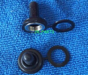 10pcs 12mm Black Rubber Toggle Large Switch Hats Waterproof Boot Cover Cap