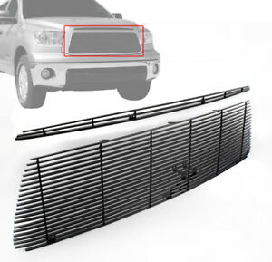 2010 13 Toyota Tundra Front Hood Scoop t0p Upper Billet Grille Grill Insert Blk