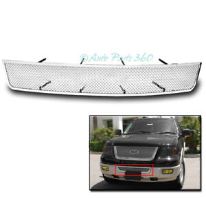 2007 2013 Ford Expedition Front Bumper Mesh Grille Stainless Steel Grill Chrome