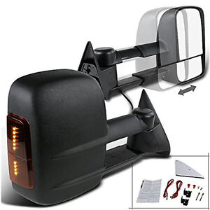 Led Signal 88 98 Chevy C K 1500 2500 3500 Manual Towing Tow Hauling Mirror Pair