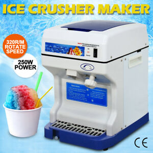 Ice Shaver Machine Snow Cone Maker Shaved Icee 264 Lbs Electric Crusher Shaving