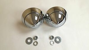 1957 57 Chevy Belair 210 150 Chrome Bumper Bullets Bullet Pair Made In The Usa