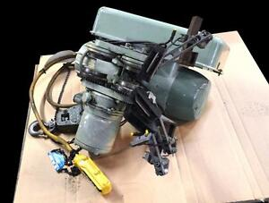 P h Zip lift 1 Ton 2000 Lb Electric Wire Rope Hoist W Power Trolley 220 440v