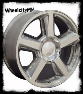 20 Inch Polished 2010 Chevy Silverado Tahoe Suburban Ltz Oe Factory Replica Rims