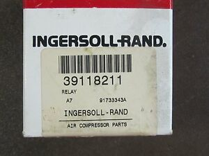 Ingersoll rand Air Compressor 39118211 Relay New