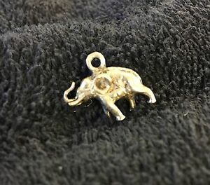 Sterling Silver Scrap Not 3 Grams 3 D Three Dimensional Elephant Charm B134