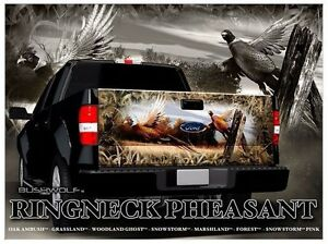 Pheasant Hunting Camouflage Truck Tailgate Vinyl Graphic Decal Wraps