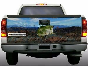 Grass Camouflage Bass Fish Fishing Truck Tailgate Vinyl Graphic Decal Wraps