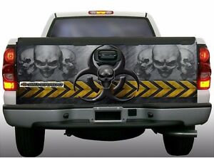Biohazard Skull Zombie Truck Tailgate Vinyl Graphic Decal Wraps