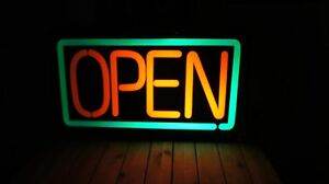 Electric Open Sign 23 75 X 13 75 X 3 5 Open Sign Electric Not Neon