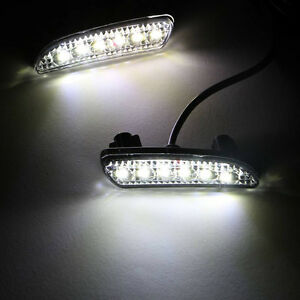 2pcs Led Daytime Running Light For Honda Odyssey 2010 2013 Drl Driving Fog Lamp