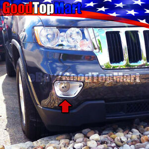 For Jeep Grand Cherokee 2011 2012 2013 Chrome 2 Front Fog Lamp Lights Covers