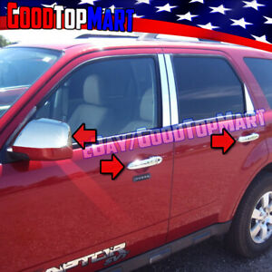 For Ford Escape 2008 2011 2012 Chrome Covers Set Top Mirrors 4 Doors W Out Pk