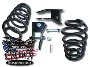 2 Rear Lowering Coils Springs Drop Kit W Shock Ext Fits 2000 2006 Chevy Tahoe