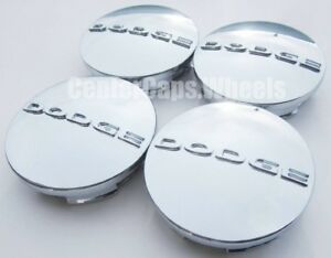 4x Dodge 2 5 Chrome Center Caps 63mm Hub Caps Fits 17 20 Wheels 1sk35sz0aa