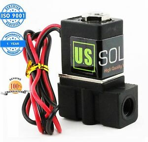 U S Solid 1 8 Nylon Electric Solenoid Valve 12v Dc Normally Closed Nbr