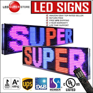 Led Super Store 3c rbp ir 2f 15 x53 Programmable Scroll Message Display Sign