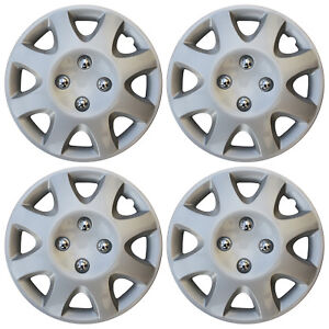 Brand New Hub Caps 4 Pc Set Abs Silver 13 Inch Wheel Cover Cap Covers