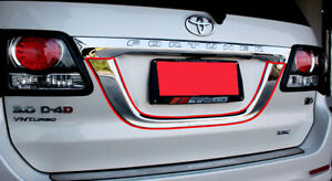 License Plate Trim Cover Chrome For Toyota Fortuner 2011