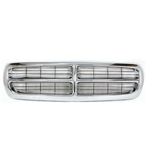 97 04 Dakota Pickup Truck Front Chrome Grill Grille Assembly Ch1200199 55056092