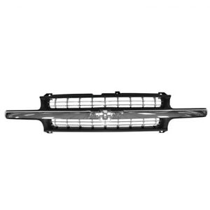 New 99 02 Silverado Pickup Truck Front Grill Grille Assembly Gm1200424 15764313