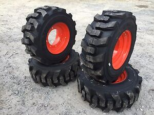 12 16 5 Carlisle Ultra Guard Skid Steer Tires wheels rims For Bobcat 97 Lb Tire