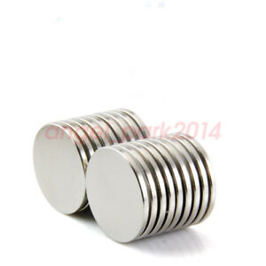 5 50pcs 22mm X2 Mm Super Strong Round Magnets Disc Rare Earth Neo Neodymium N52